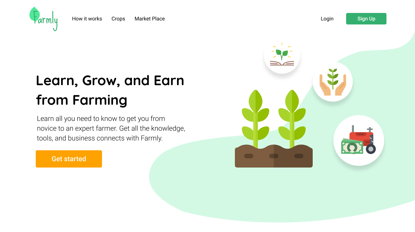 Farmly Home Page